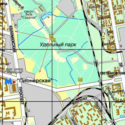 Современная карта Санкт-